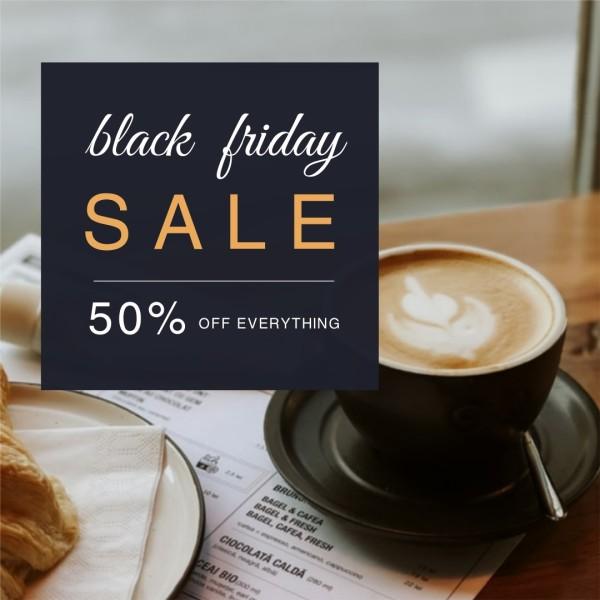 Black Black Friday Coffee  Instagram Post