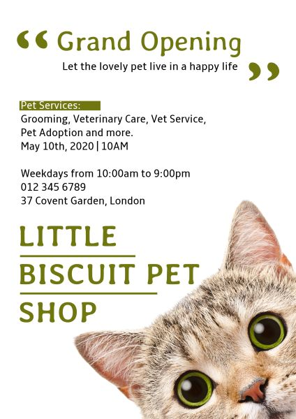 Pet Store Opening Poster