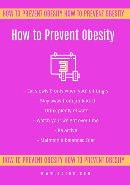 Pink Obesity Poster