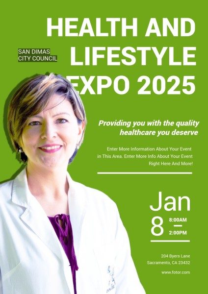 Green Health And Lifestyle Expo 2025 Poster