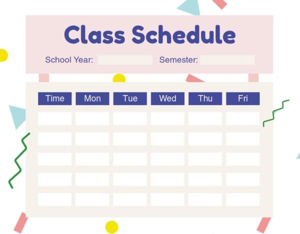 16class schedule_lsj