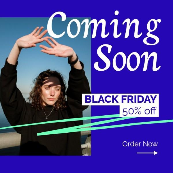 Purple Black Friday Fashion Collection Marketing Branding Instagram Post