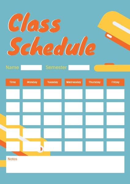 class schedule_lsj20180317
