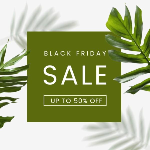 Green Black Friday Fashion Sale Instagram Post
