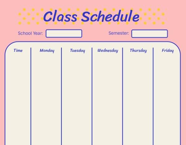01class schedule_通用_wl