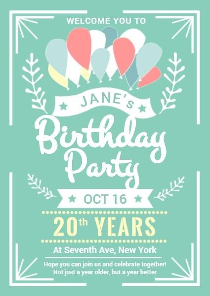 Make Birthday Invitation Cards Online For Free Fotor Invitation Maker