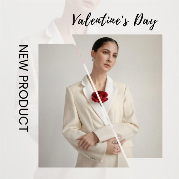 White Woman Wearing Valentine's Day Fashion Sale Instagram Post