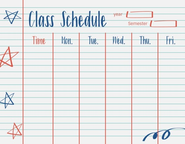 13class schedule_通用_wl