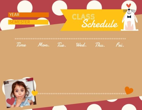15class schedule_可爱_wl