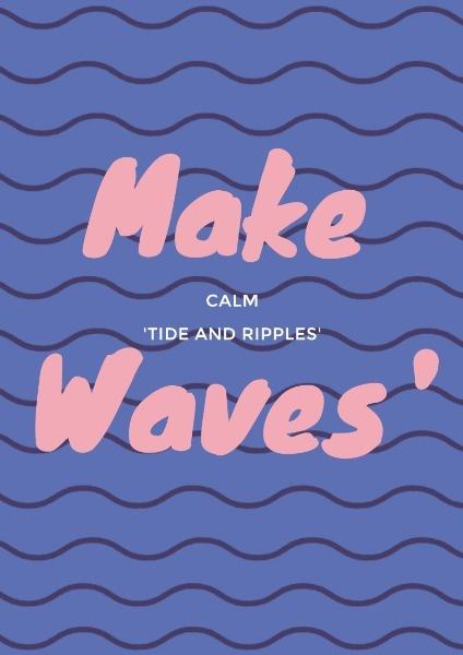 make waves-英文模板