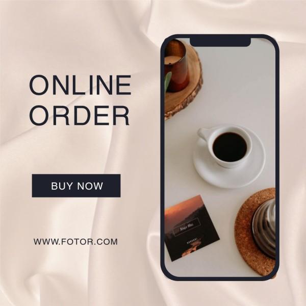 White Coffee Time Online Order Instagram Post