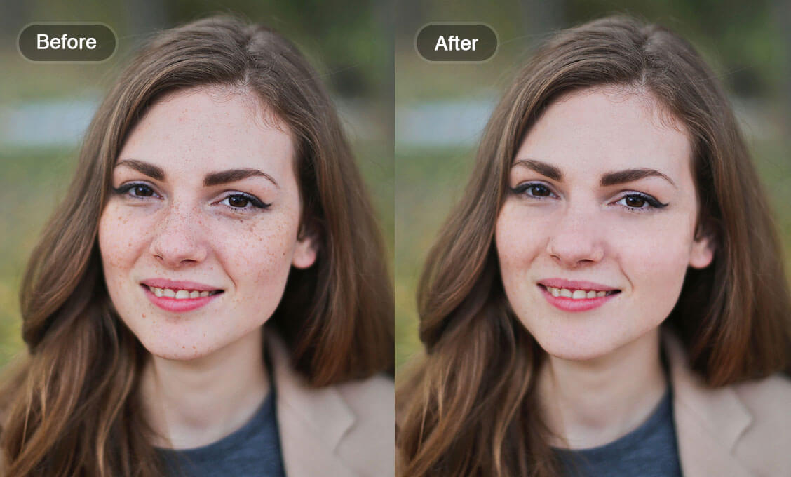 Comparison with Blemish Tool Result