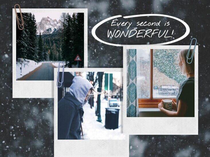 Коллаж Чудесные жизненные картины зимой