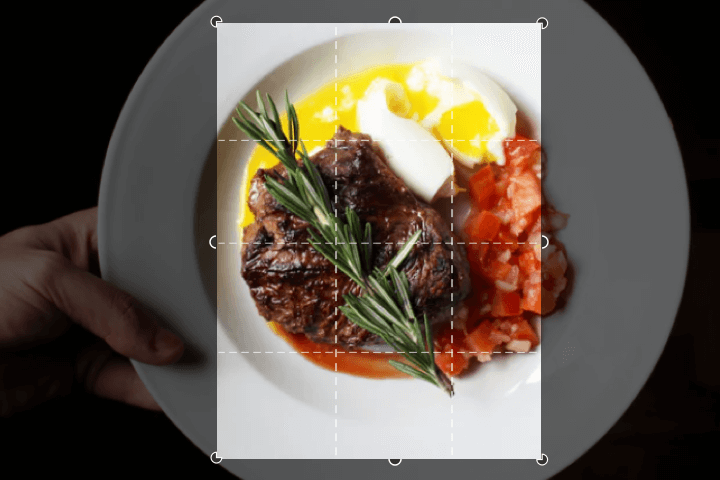 recortar imagen de comida