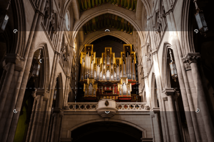 Recortar imagen de la iglesia