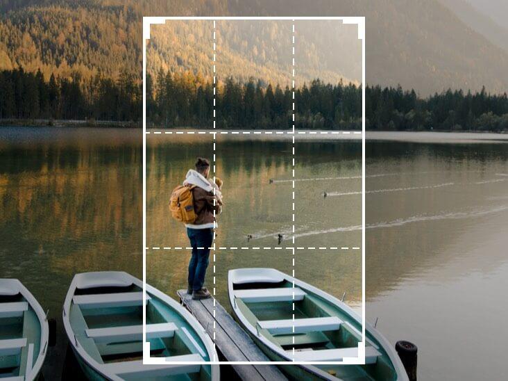 Foto de cultivo de una niña en el lago