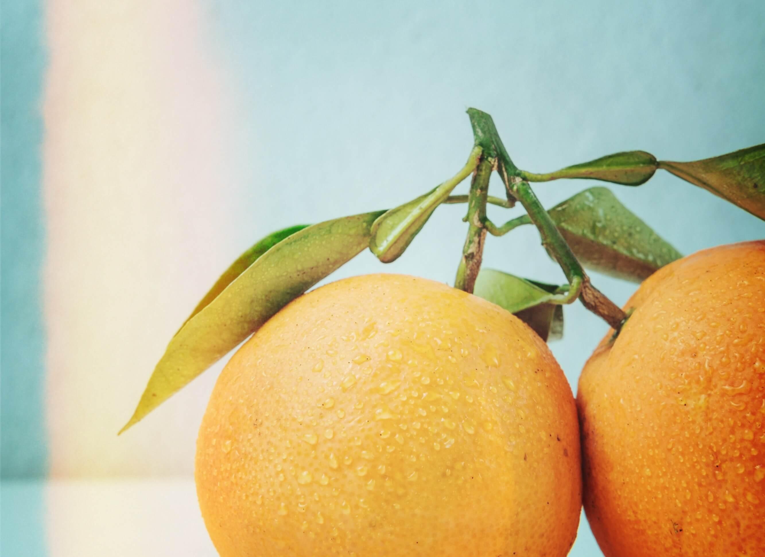 naranja con efecto funky