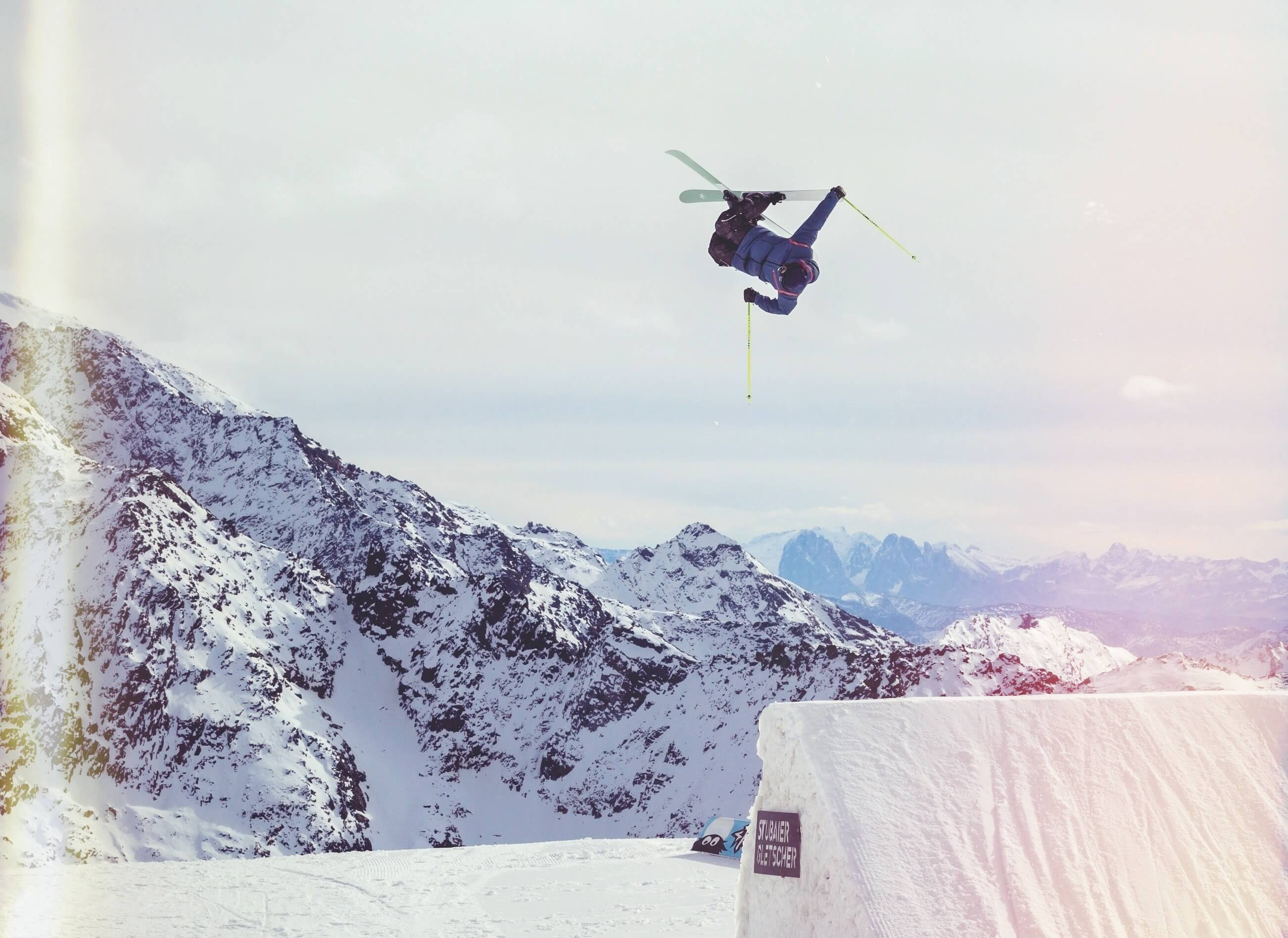esquiar con efecto funky