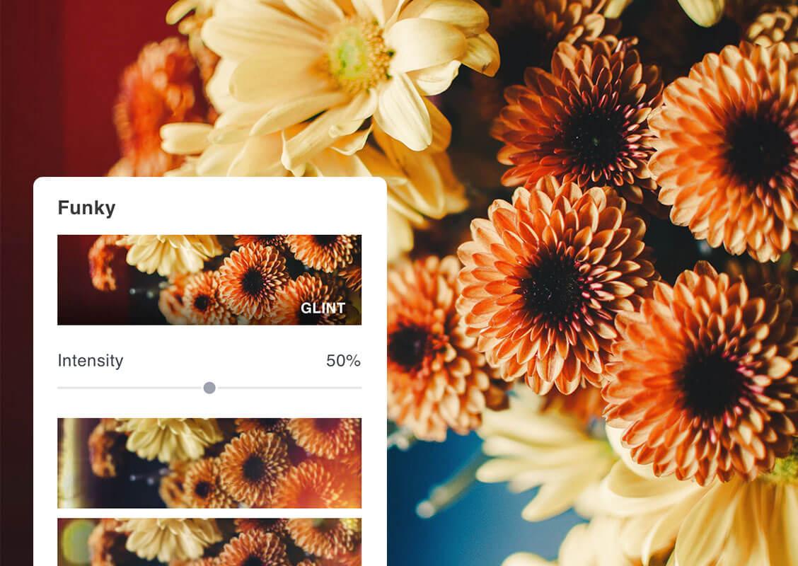flor con efecto funky