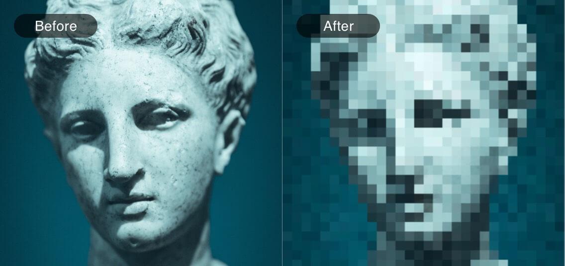 comparación del arte del mosaico