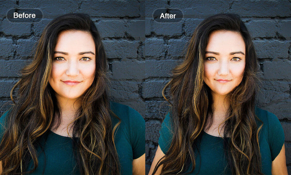 reshape picture from a girl face