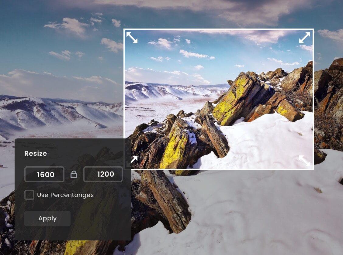 Уменьшить изображение с гор