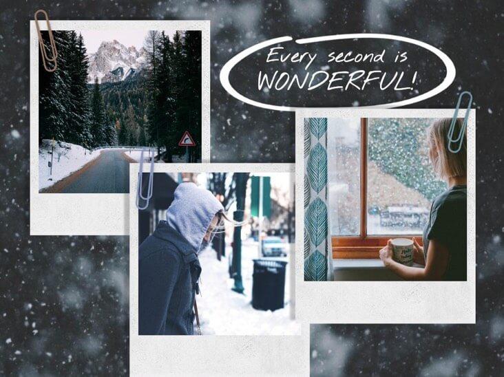 Коллаж из фотографий зимней жизни